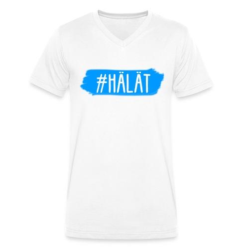 #HÄLÄT Herrenshirt - Männer Bio-T-Shirt mit V-Ausschnitt von Stanley & Stella