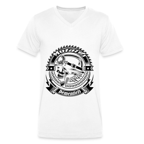 Tee shirt Homme col V Motards démentiels grand logo - T-shirt bio col V Stanley & Stella Homme