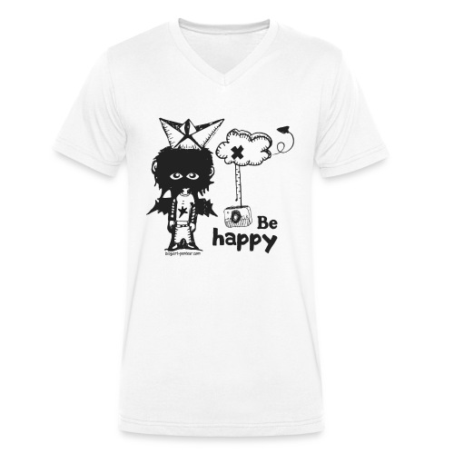 Be Happy - Man - T-shirt bio col V Stanley & Stella Homme
