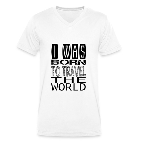 Reise um die Welt - Männer Bio-T-Shirt mit V-Ausschnitt von Stanley & Stella