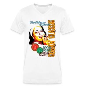 CUBAN CLASSIC - Zigarren Lady - Männer Bio-T-Shirt mit V-Ausschnitt von Stanley & Stella