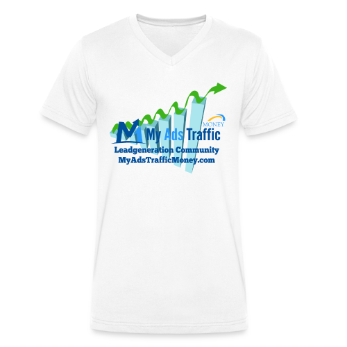 MyAdsTrafficMoney Männer T-Shirt mit V-Ausschnitt div. Farben - Männer Bio-T-Shirt mit V-Ausschnitt von Stanley & Stella