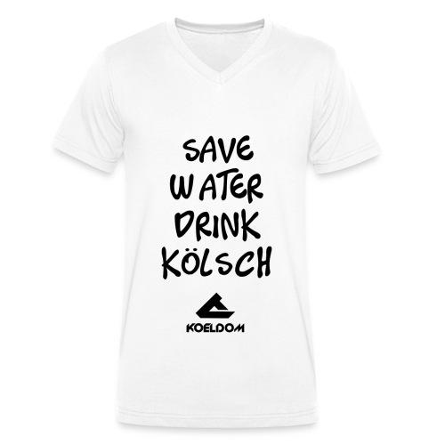 Save Water Drink Kölsch l KOELDOM - Männer Bio-T-Shirt mit V-Ausschnitt von Stanley & Stella