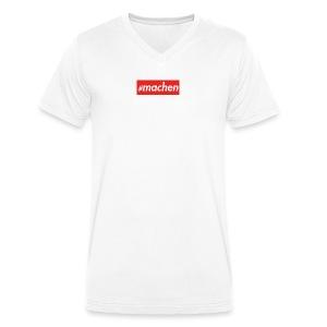 #machen | roter Kasten - Männer Bio-T-Shirt mit V-Ausschnitt von Stanley & Stella