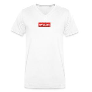 #machen   roter Kasten - Männer Bio-T-Shirt mit V-Ausschnitt von Stanley & Stella