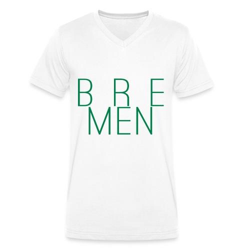 Bremen City-Shirt mit V-Ausschnitt weiß - Männer Bio-T-Shirt mit V-Ausschnitt von Stanley & Stella