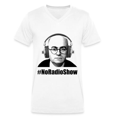 NoRadioShow Fan-Shirt Männer V-Kragen (weiss) - Männer Bio-T-Shirt mit V-Ausschnitt von Stanley & Stella