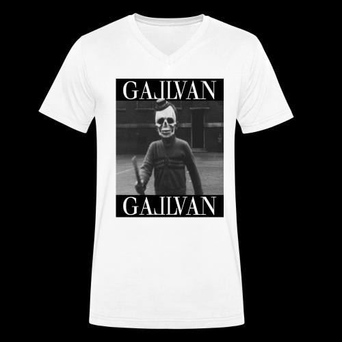 Gallvan Creepa T-Shirt Bianco - Männer Bio-T-Shirt mit V-Ausschnitt von Stanley & Stella