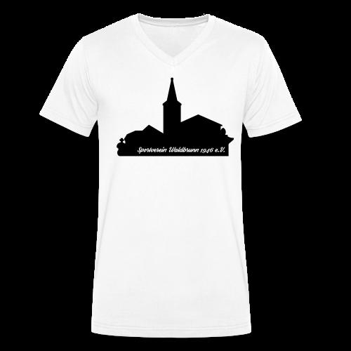 V-Neck T-Shirt Skyline - Männer Bio-T-Shirt mit V-Ausschnitt von Stanley & Stella