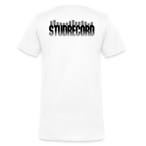 Tee-Shirt Blanc StudRecord - T-shirt bio col V Stanley & Stella Homme