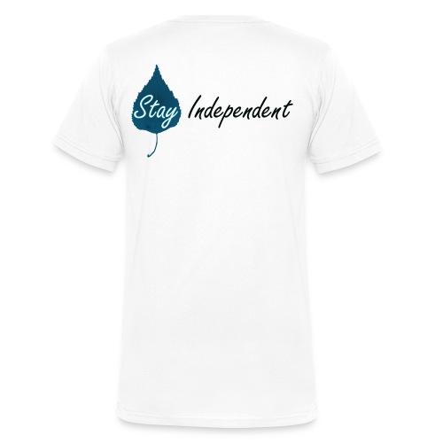 Stay Independent - Ekologisk T-shirt med V-ringning herr från Stanley & Stella