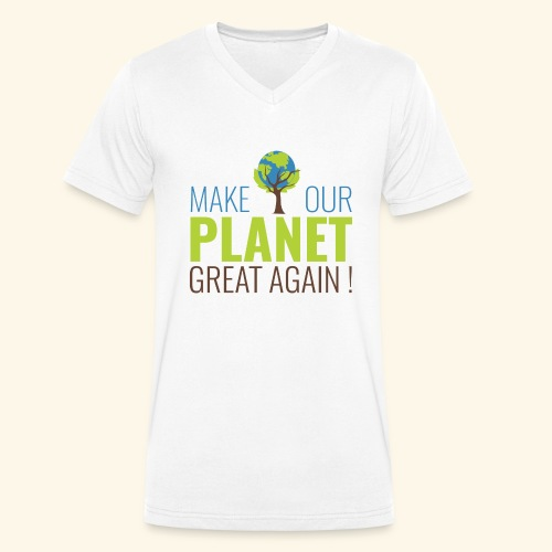 #MakeOurPlanetGreatAgain MakeOurPlanetGreatAgain Make Make our planet great again ! - T-shirt bio col V Stanley & Stella Homme