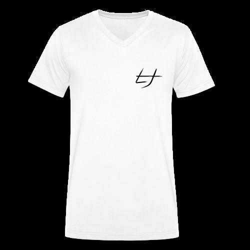 LJ-Brush Weiß Männer T-Shirt V-Ausschnitt - Männer Bio-T-Shirt mit V-Ausschnitt von Stanley & Stella