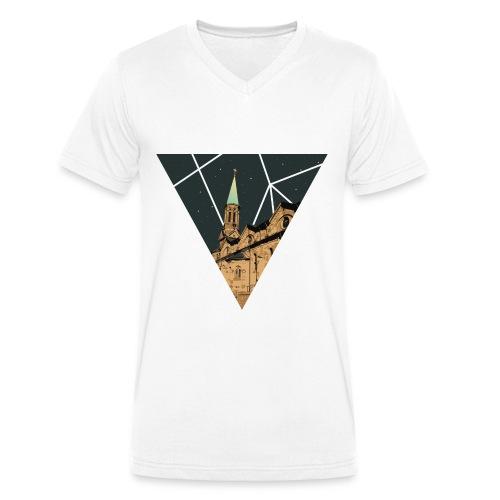 Forschd Kirchturm V-Shirt - Männer Bio-T-Shirt mit V-Ausschnitt von Stanley & Stella