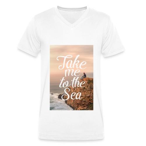 Take me to the Sea, V-Auschnitt - Männer Bio-T-Shirt mit V-Ausschnitt von Stanley & Stella