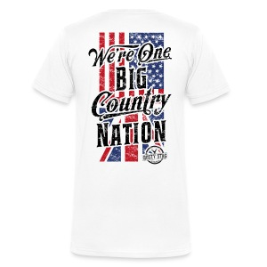Country Nation Back - Men's Organic V-Neck T-Shirt by Stanley & Stella