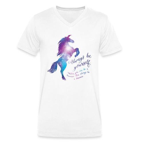 Unicorn mannen v-hals bio - Mannen bio T-shirt met V-hals van Stanley & Stella