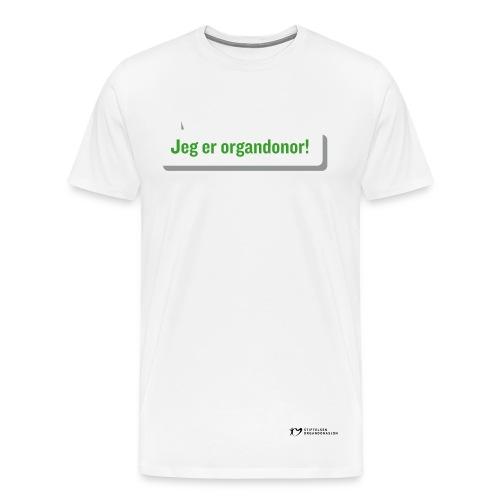 Jeg er organdonor t-skjorte – herre - Premium T-skjorte for menn
