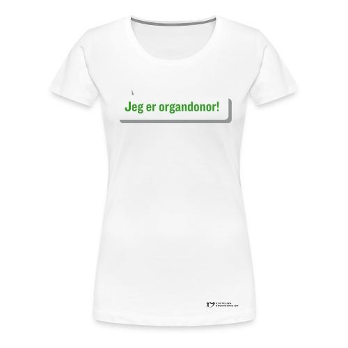 Jeg er organdonor t-skjorte – dame - Premium T-skjorte for kvinner