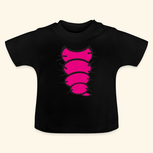 Baby / Kinder Raupen T-Shirt Schwarz - Baby T-Shirt