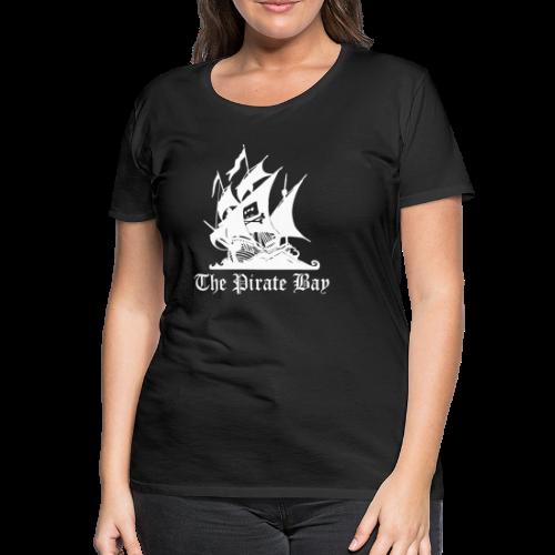 T-shirt dam Premium, TPB The Pirate Bay - Premium-T-shirt dam