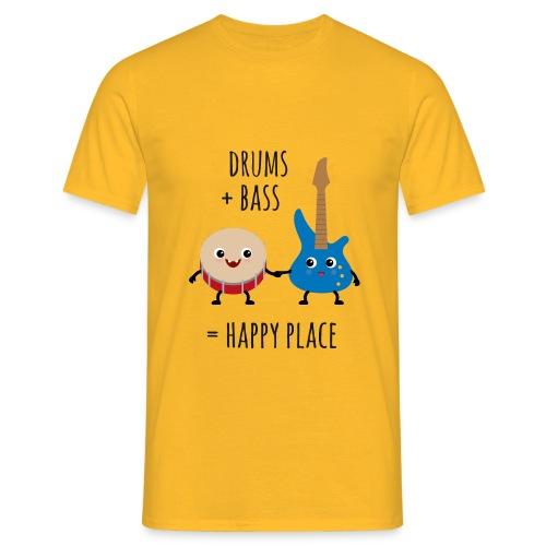 T-Shirt Drums and Bass Herren / gelb - Männer T-Shirt