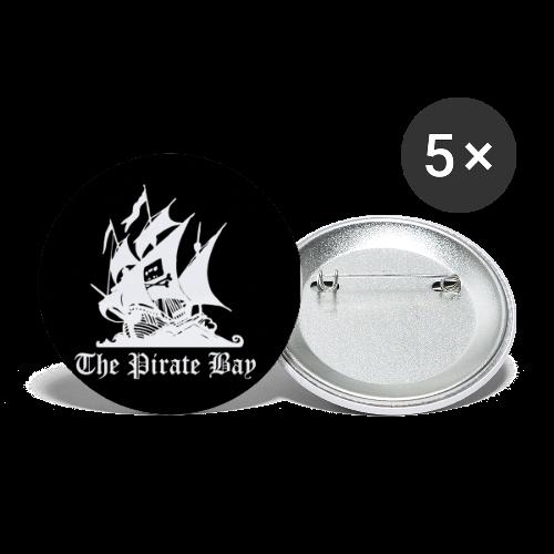 Pins 5-pack 25mm, TPB The Pirate Bay - Små knappar 25 mm (5-pack)