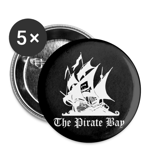 Pins 5-pack 25mm, TPB The Pirate Bay - Små knappar 25 mm (5-pack)