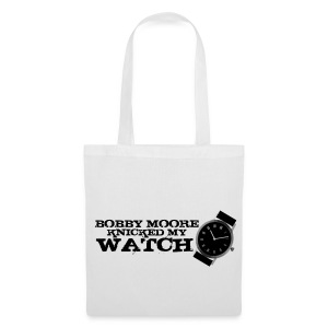 Bobby Moore Knicked my Watch - Print on White Tote Bag - Tote Bag