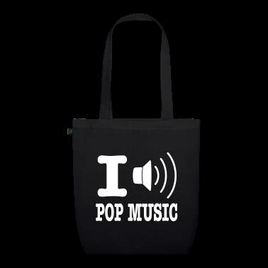 Black i love pop music Bags