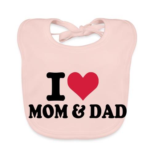 I love mom&dad slabbetje - Bio-slabbetje voor baby's