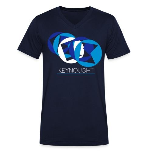 Basic Logos (Blue/White) - Männer Bio-T-Shirt mit V-Ausschnitt von Stanley & Stella