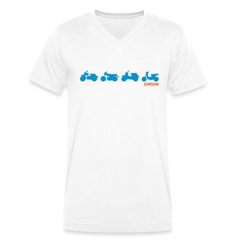 V-Shirt Mopeds - Männer Bio-T-Shirt mit V-Ausschnitt von Stanley & Stella