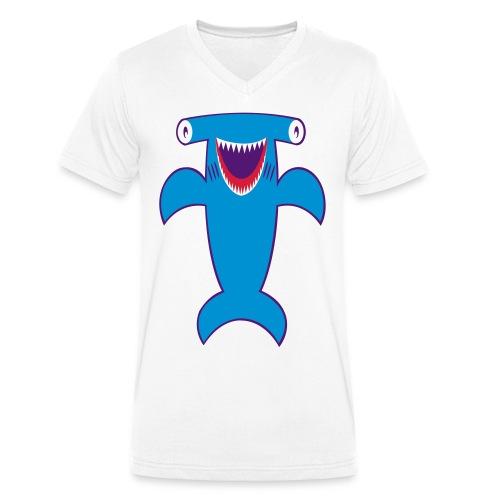 Hammer Hai Tshirt - Männer Bio-T-Shirt mit V-Ausschnitt von Stanley & Stella