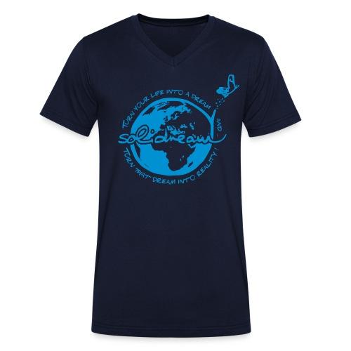 T-shirt Logo Bleu - T-shirt bio col V Stanley & Stella Homme