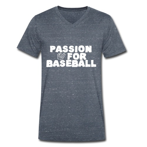TS BA Passion for baseball col v - T-shirt bio col V Stanley & Stella Homme