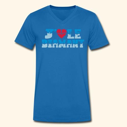 j'aime le Diamant - T-shirt bio col V Stanley & Stella Homme