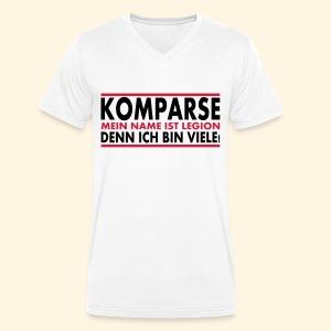 Männer T-Shirt - Komparse (vorderseite) - Männer Bio-T-Shirt mit V-Ausschnitt von Stanley & Stella