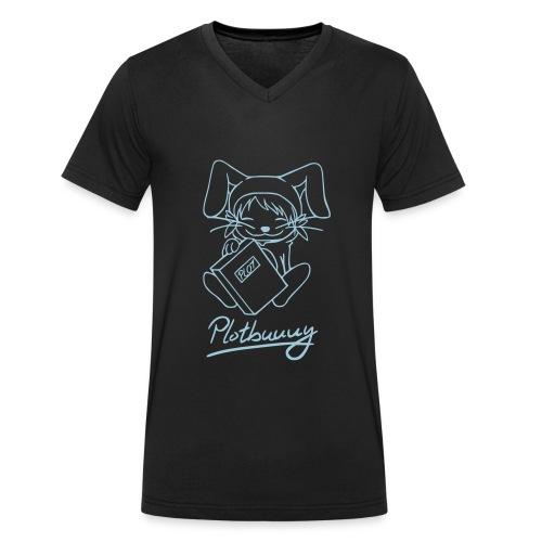 Motiv: Plotbunny 2 | Druck: himmelblau | verschiedene Farben - Männer Bio-T-Shirt mit V-Ausschnitt von Stanley & Stella