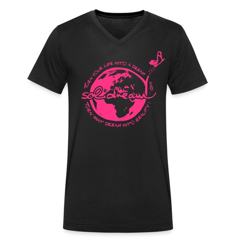 T-shirt Logo Rose - T-shirt bio col V Stanley & Stella Homme