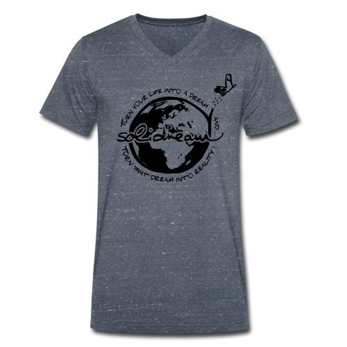 T-shirt Logo Noir - T-shirt bio col V Stanley & Stella Homme