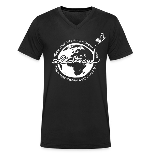 T-shirt Logo Blanc - T-shirt bio col V Stanley & Stella Homme