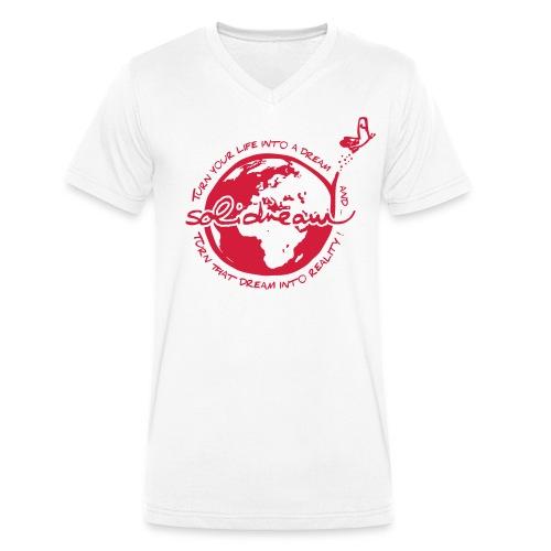 T-shirt Logo Rouge - T-shirt bio col V Stanley & Stella Homme