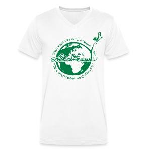 T-shirt Logo Vert - T-shirt bio col V Stanley & Stella Homme