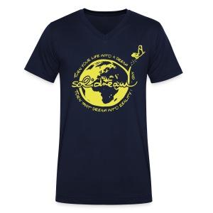 T-shirt Logo Jaune - T-shirt bio col V Stanley & Stella Homme