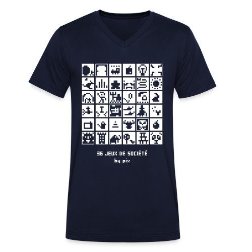 T-shirt-jeu 36·jeux·de·société - T-shirt bio col V Stanley & Stella Homme