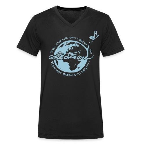 T-shirt Bleu Ciel - T-shirt bio col V Stanley & Stella Homme