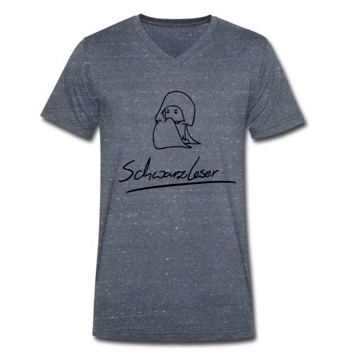Motiv: Schwarzleser (neu)   Druck: schwarz   verschiedene Farben - Männer Bio-T-Shirt mit V-Ausschnitt von Stanley & Stella
