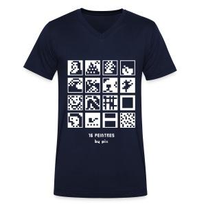 T-shirt-jeu 16·peintres - T-shirt bio col V Stanley & Stella Homme
