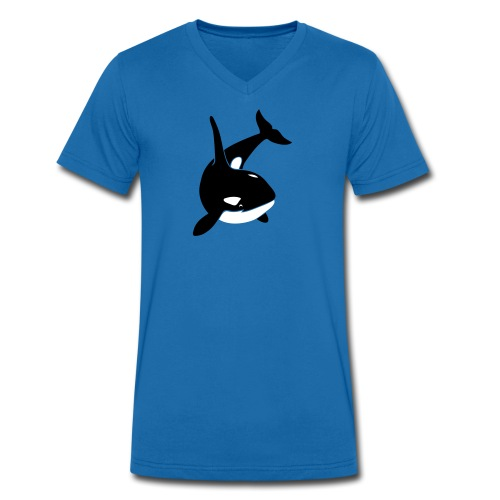 tier t-shirt orca orka wal killer whale delphin dolphin delfin shark hai - Männer Bio-T-Shirt mit V-Ausschnitt von Stanley & Stella